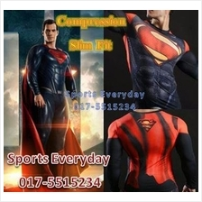 Super Hero Slim Fit Compression Shirt baju - Super Man 14 Long Sleeve