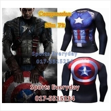 Super Hero Slim Body Fit Compression Shirt baju - Super Man 17