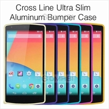Cross Line HTC One Max T6 LG Samsung Galaxy S4 Aluminum Bumper Case