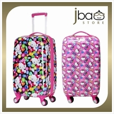 Hello Kitty 20 Inches Luggage Trolley Roller Baggage Travel Suitcase Bag