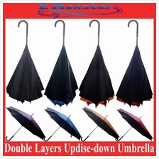 High Quality Double Layers Upside down Reverse Inverted Umbrella