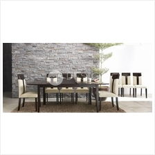 MF Design Tiff 1+6 Dining Set ( 1 Extension Table + 6 Chairs )