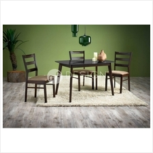 MF Design Amy Dining Set ( 1 Glass Table + 4 Chairs )