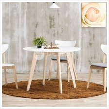 MF Design Estonia White Wood Round Dining Table (MEJA)