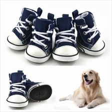 4 PCS Fashion Casual Canvas Shoes Anti-slip Sneakers for Dogs Cats