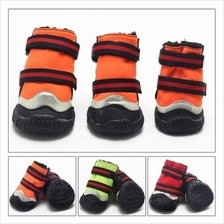 Pet Supplies Puppy Dog Shoes Winter Fluorescent Snow Boots Anti-Slip