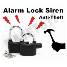 HIGH SECURITY SIREN ALARM PADLOCK FOR DOOR/MOTOR/BIKE/CAR PAD LOCK