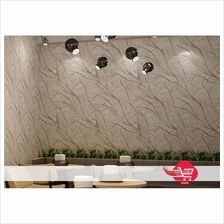 Wallpaper with Artistic Pattern Silver (Need Glue)