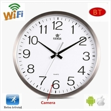 P2P Wifi Function HD Wall Clock Camera,Control Through your mobile