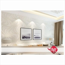 Wallpaper With Wave Pattern Light Gold(Need Glue)