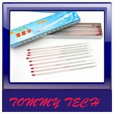 30CM Alcohol thermometer red water glass rod thermometer 0-100