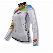 Spakct Premier Quality Lady Long Sleeve Cycling Jersey