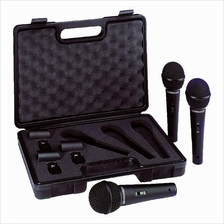 BEHRINGER ULTRAVOICE XM1800S - 3 Dynamic Cardioid Microphone Pack
