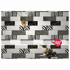 Wallpaper with black and white wood pattern