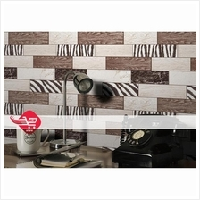 Wallpaper with brown series wood pattern