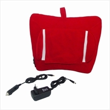 Multifunctional Car & Home Use Neck & Back Cushion Massager (Red)