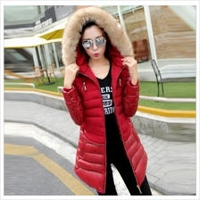 JF T18982 Korean Fashion Stylish PU Leather Long Jacket with Hood - 5