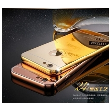 Iphone 5 6 6S 6+ Redmi Note 2 3 Mi4i Mirror Metal Bumper Case Tempered