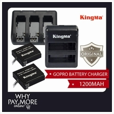 GoPro Hero 3 4 1200mAh Backup Battery Kingma Dual Triple Charger