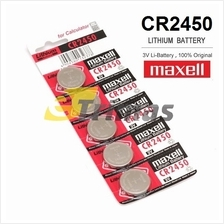 5PCS CR2450 GENUINE Maxell Japan Coin Cell Lithium Battery 3V
