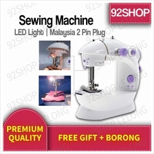 ORI 4 in 1 Mini Portable Sewing Machine Home Mesin Jahit with LED