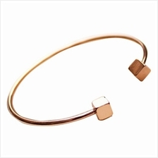 YOUNIQ Cube 18K Rosegold Titanium Cuff Bangle