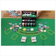 Poker Set With 200 Chips-Texas Hold´em Casino Style ~ Ready Stock