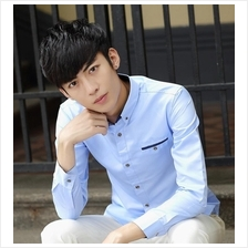 Korean Men Shirt Business Long-Sleeved