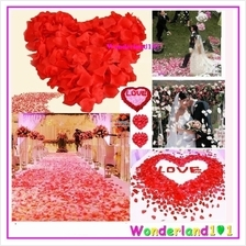12 cols Artificial Rose Petals Wedding Party Decorations +/-100pcs/pkt