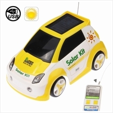 Solar Powered / USB Rechargeable Remote Control Car Toys(Yellow)