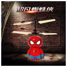 Flying Spider Man Mini Helicopter, Induction Vehicle for Kids Toy