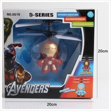 Avengers Iron Man Infrared Induction Flying Iron Man Mini Helicopter