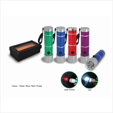 LED Torch Light come with Laser Pointer