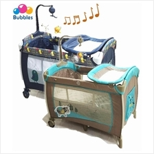 Bubbles Premium Playpen (2Layers, With Changer, Mosquito Net & Mobile)