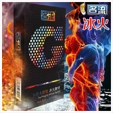 'Ming Liu' G Spot Hot & Cold Particles Condom 10/box ( Have Free Gift)