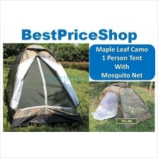 Maple Camo Lightweight 1Person Army Camping Outdoor Tent Monsquito Net