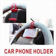 Silicon Car Steering Wheel Cradle GPS Phone Mount Socket Holder Clip