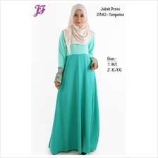 Jubah Dress with Front Zipped D342