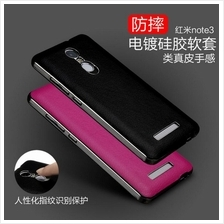 XIAOMI REDMI NOTE 3 PLATING PU Leather Note3 Style SILICONE SOFT Case