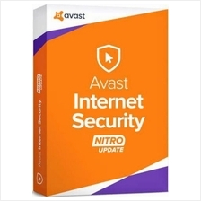 Avast Internet Security 2016 - 1Year 3User Windows 10,8.1/8,7,Vista,XP