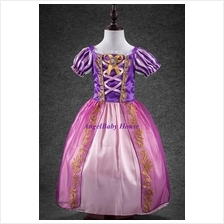 Disney Princess Rapunzel costume dress with ribbon dark purple cloth