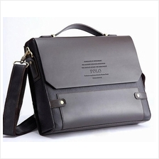 POLO Bag Newest Men's Genuine Leather Blocking Secure Briefcase