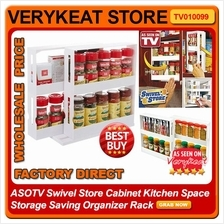 ASOTV Swivel Store Cabinet Kitchen Space Storage Saving Organizer Rack