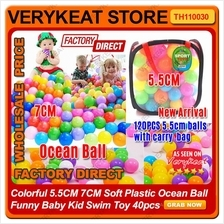 Colorful 7CM Soft Plastic Ocean Ball Funny Baby Kid Swim Toy 40pcs