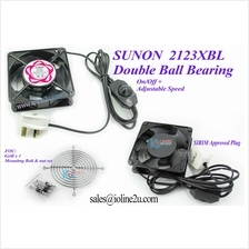 Sunon DP-200T 12cm*0.38cm 230V AC Cooling Fan Adjustable speed 1.8m cable Gril