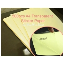 500pcs A4 Size TRANSPARENT Sticker Labels Paper Laser Digital Printer