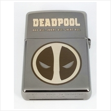 Customized Special Edition Zippo 150ZL Black Ice with Deadpool Logo