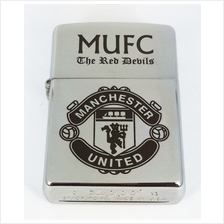 Customized Special Edition Zippo 200 REG Brushed Chrome with Manchester United