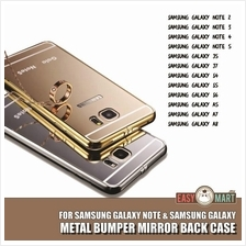 Samsung Galaxy Note 4 5 S5 S6 A7 A8 J5 Mirror Metal Bumper Case Casing