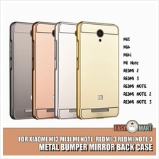 Xiaomi Redmi Note 2 3 Mi4i Redmi 2 Mirror Metal Bumper Case Casing